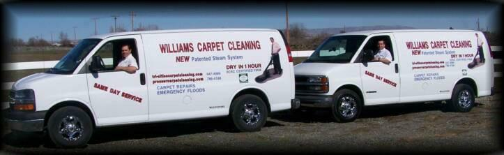Williams Carpet Cleaning Vans in the Tri-Cities WA