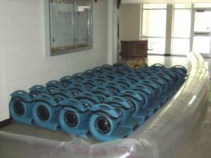 Williams Carpet Cleaning air movers for any size job.
